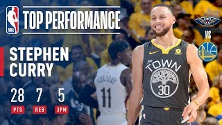 Stephen Curry's 2018 Playoff Debut!