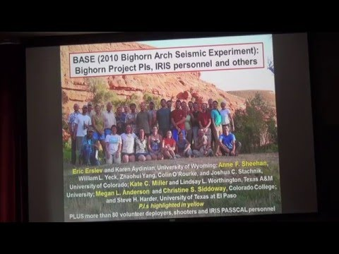 Rocky Mountain Formation by Eric Erslev, UW/CSU