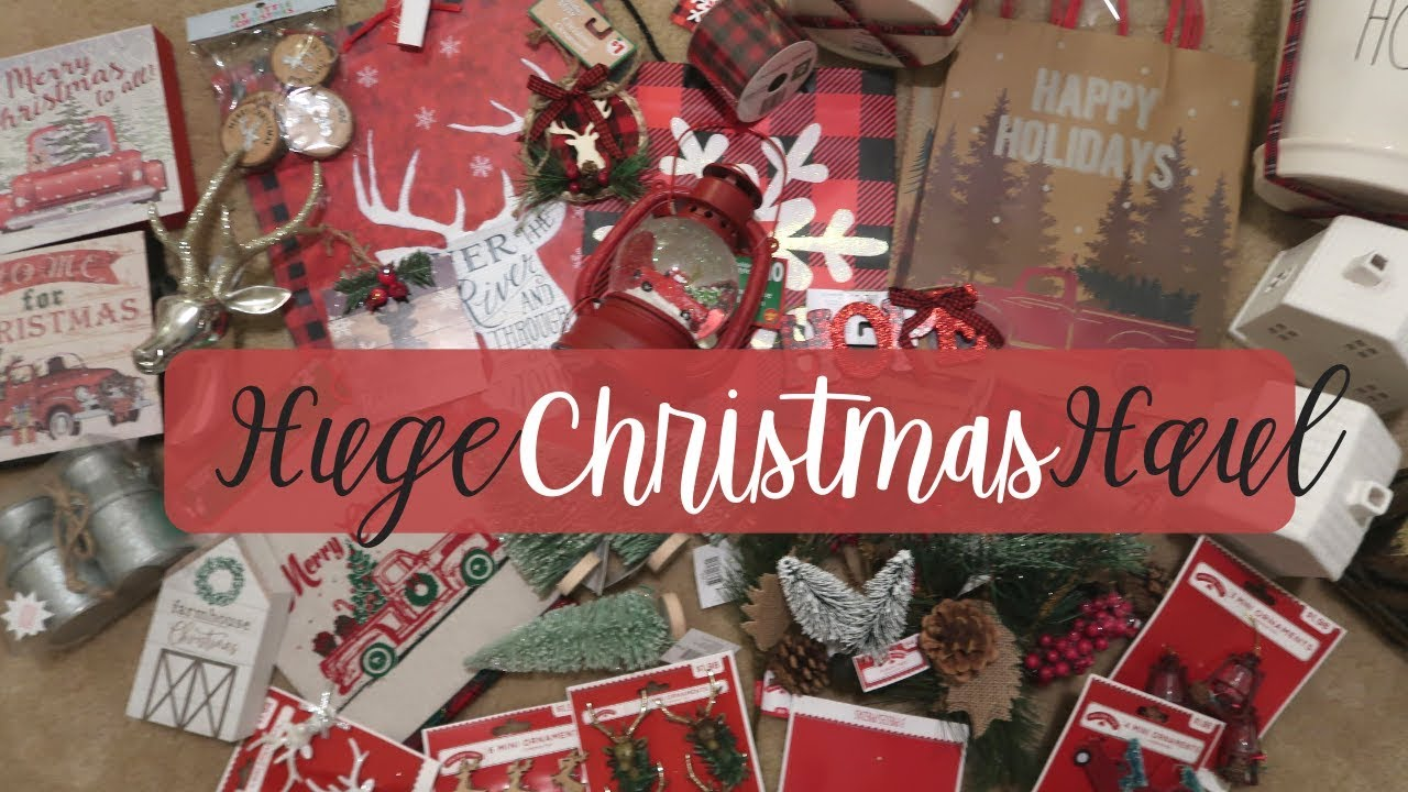 Is Dollar General Open On Christmas.Huge Farmhouse Christmas Decor Haul 2018 Target Tjmaxx Walmart And Dollar General