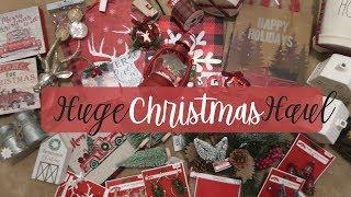 Huge Farmhouse Christmas Decor Haul 2018   Target, TJMAXX, Walmart, and Dollar General  