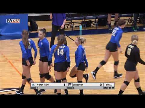 2017-10-03 Wheaton College Volleyball vs North Park