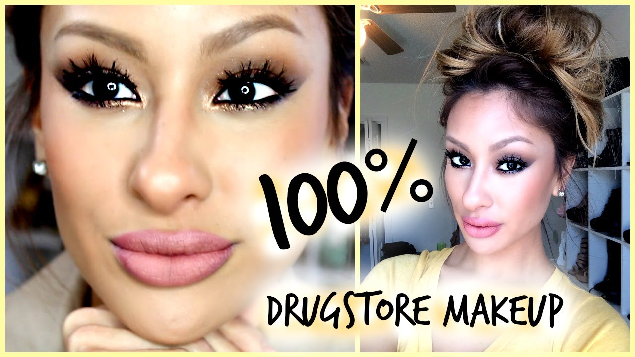 100 drugstore makeup complete look new products youtube for Salon 615 lashes