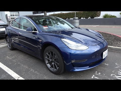 Tesla semi unveil event - part 1: Model 3 walkaround an factory visit