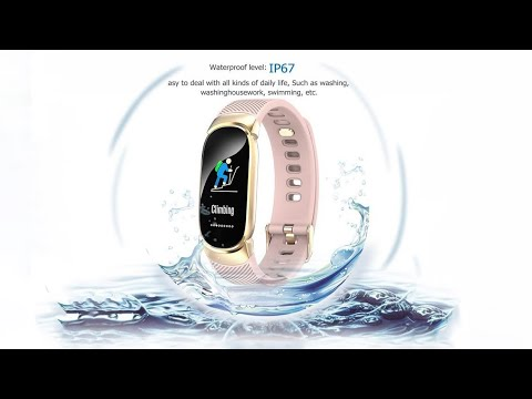 QW16 Smart Sports Watch IP67 Waterproof Color Screen Band Fitness Tracker  For IOS Android