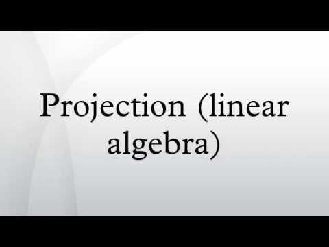 linear algebra projection 171 projection matrices linear algebra is the study of vectors and linear linear algebra is the study of vectors and.