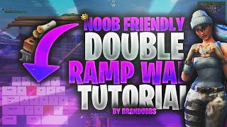 Noob Friendly Double Ramp Wall Build Tutorial (Fortnite Battle Royale)
