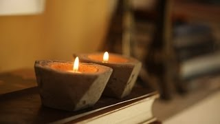 DIY Cement Candle Holders   Kin Community