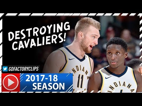 Victor Oladipo & Domantas Sabonis Full Highlights vs Cavaliers (2017.11.01) - 38 Pts, TOO GOOD!