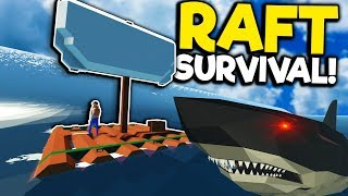 Idiots Must Survive on a Raft Against Megalodons! - Stormworks Multiplayer - Sinking Ship Survival