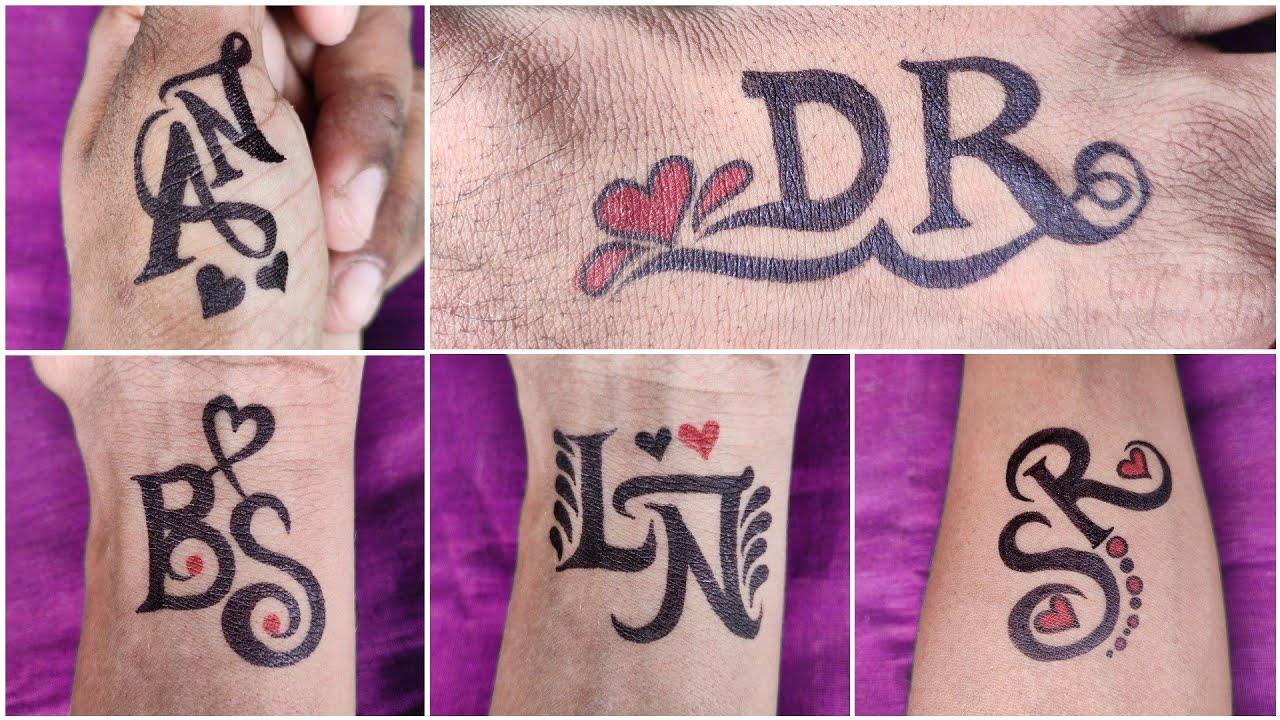 Combination letter tattoo designs | SR | AN | DR | LN | BS