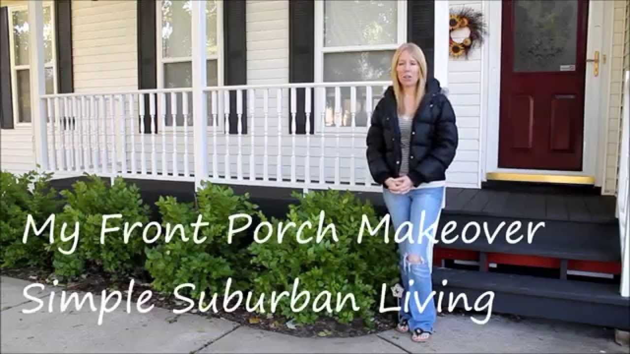 my front porch makeover for under 100 with curtains youtube