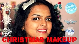 Christmas/ New Year party makeup idea | Warm golden smoky eyes & rose lips Thumbnail