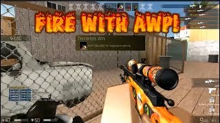 Roblox CBRO Lets Play {FIRE WITH AWP} 2 ACE!