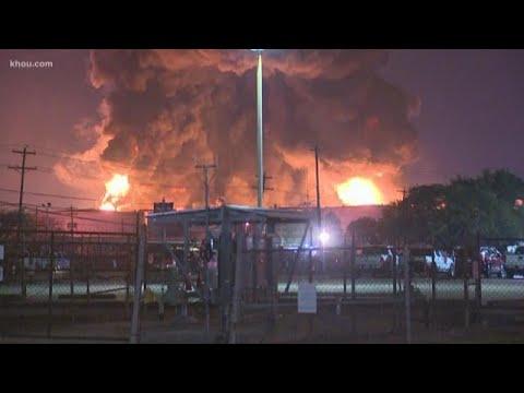 Chemical facility fire intensifies overnight in La Porte