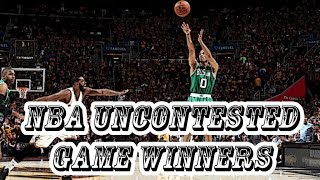 """NBA """"UNCONTESTED"""" GAME WINNERS"""