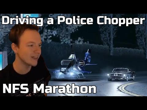 Driving a Police Helicopter! NFS Marathon