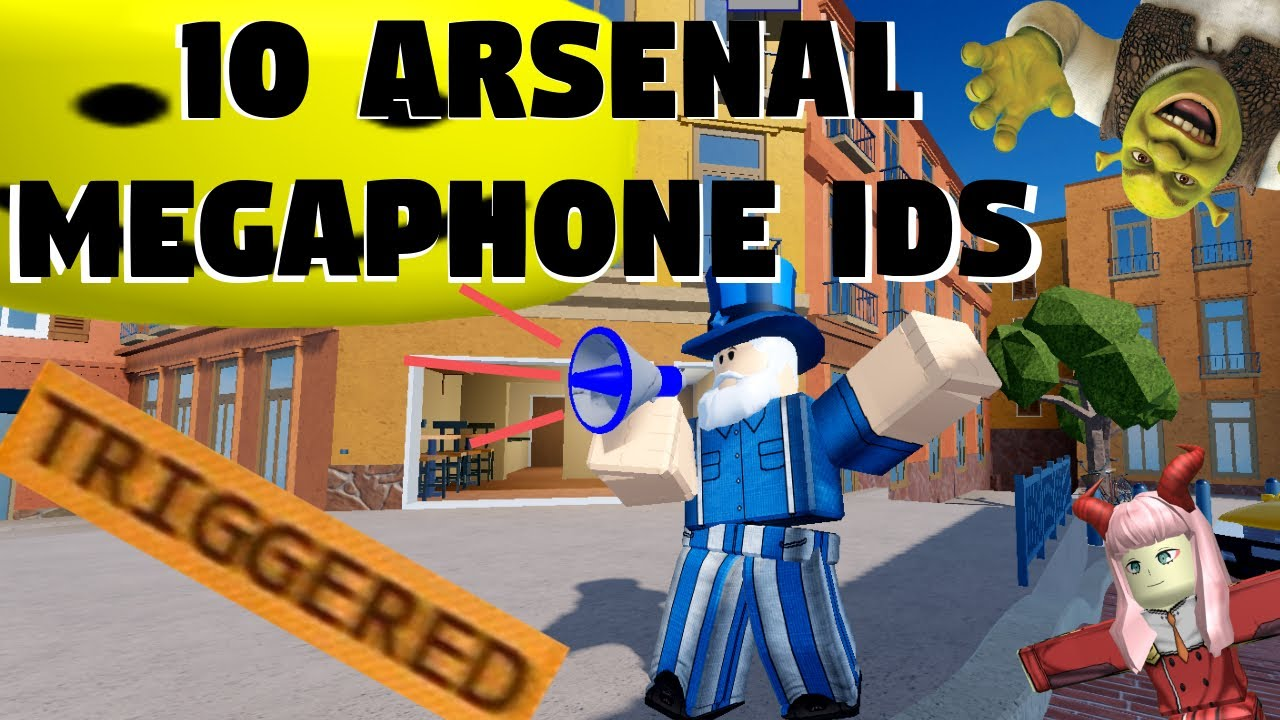 10 ROBLOX Arsenal Megaphone Emote IDs YouTube
