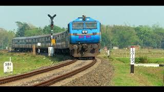 Train descending from Arunachal Pradesh: BAAZ liveried WDP4 powers Bhalukpong - Dekargaon (Tezpur) thumbnail