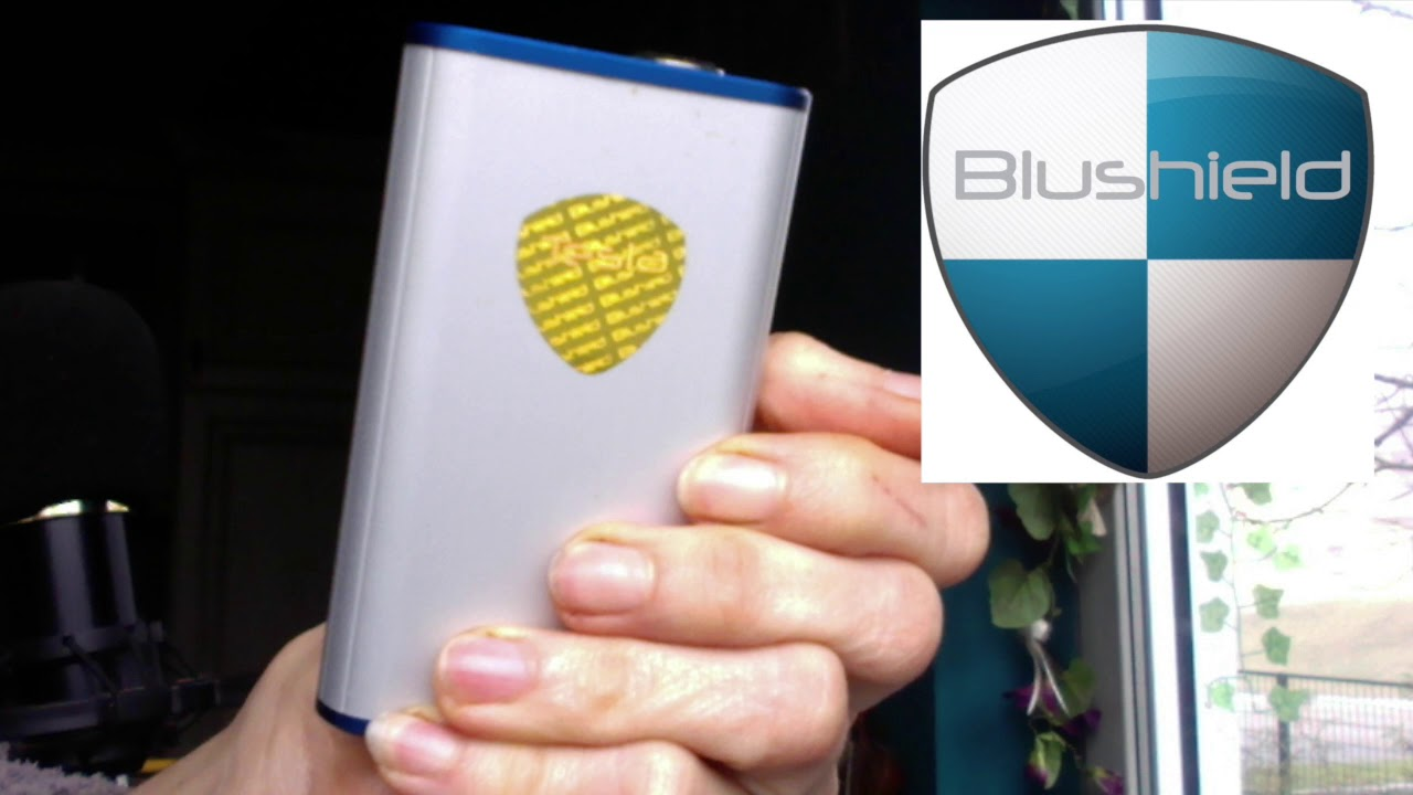 Review of BLUSHIELD EMF PROTECTION, Testimonials / Test of the Portable  BLUSHIELD Device