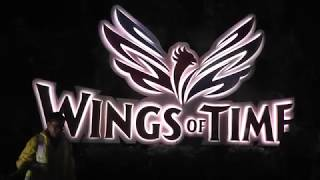 Сингапур.  Лазерное шоу Wings of Time на острове Сентоза