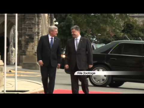 Canada PM Scorns Russia: Harper says Moscow should be banned from G7