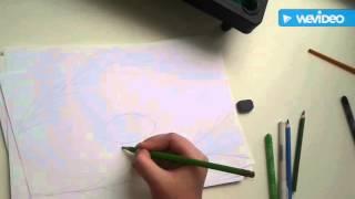 Учимся рисовать!Видео урок 1.Зимний енот.