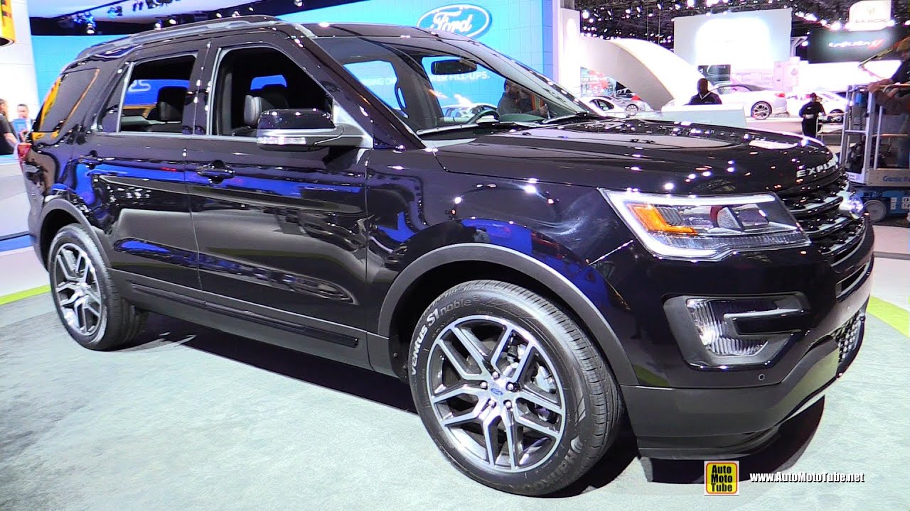 2016 ford explorer 4wd exterior and interior walkaround. Black Bedroom Furniture Sets. Home Design Ideas