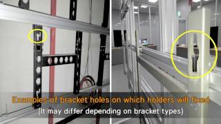 Montaje en soporte de pared LG 55VH7B | Clover