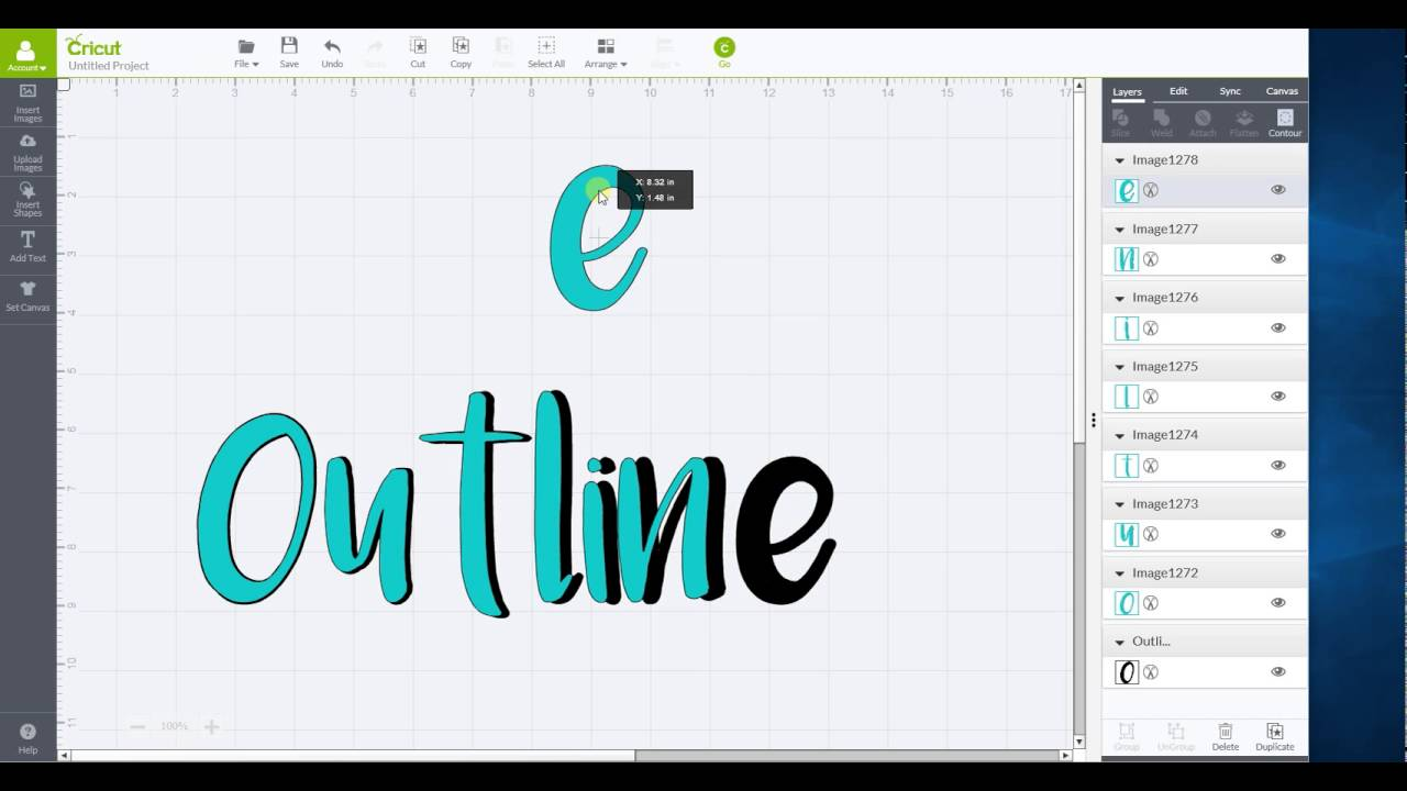 854bc1661a40 Outline words in Cricut Design Space - YouTube