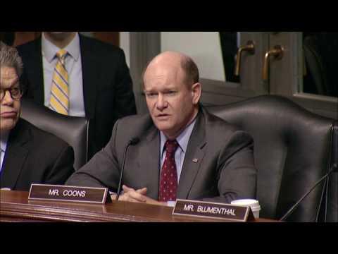 Senator Coons Q&A at Senate Judiciary Committee Hearing May 3, 2017 A