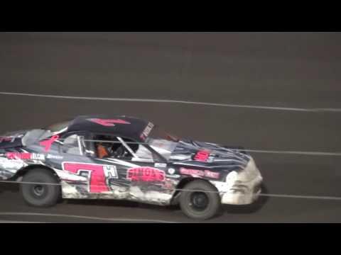 IMCA Stock Car feature Farley Speedway 7/15/16