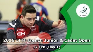 2016 French Junior & Cadet Open - Day 1 LIVE