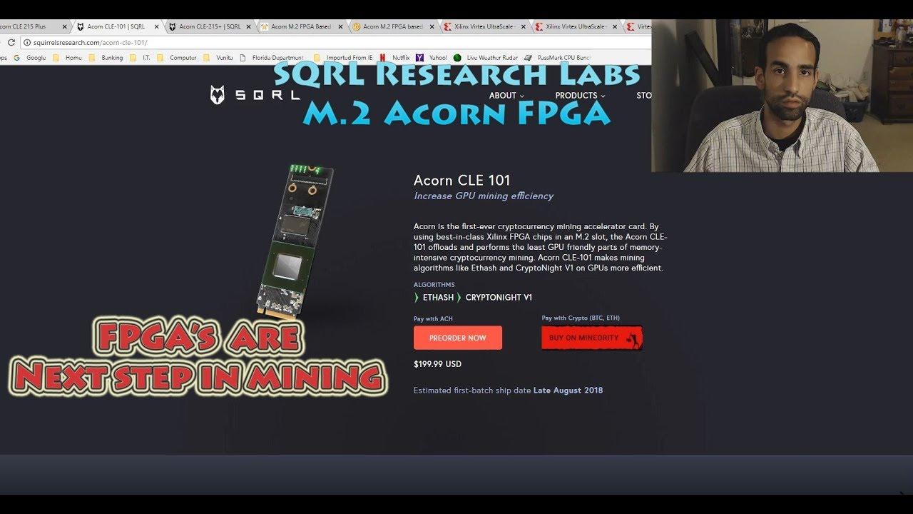 Hashrate boosting SQRL Acorn FPGA's & Data on VCU1525
