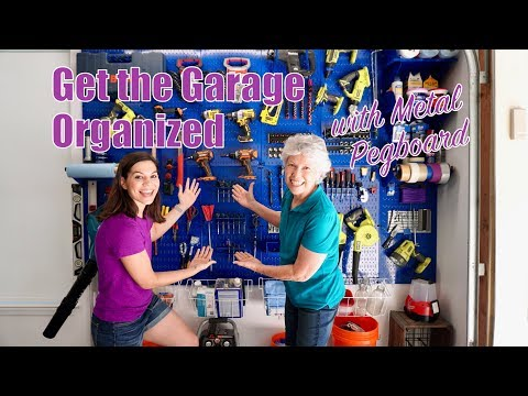 Mother & Daughter Get Organized with Metal Pegboard