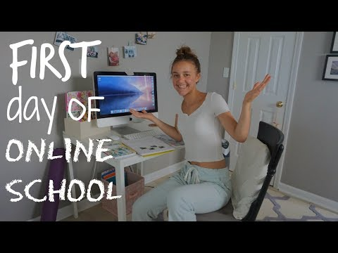 My First Day of ONLINE HIGH SCHOOL 2018!