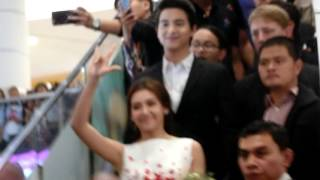 James Jirayu & Bella ranee Famous Thai actor arrived to Cambodia Phnom Penh ( Aeon Mall ) EP.1