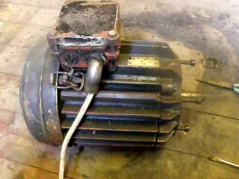 3 Phase Siemens Motor Running On 240v Single Phase Youtube