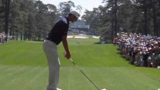 Dustin Johnson Driver Golf Swing Slow Motion - Masters Practice Round 2011