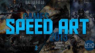 Speed Art - Games of 2013 Desktop Background (2560 x 1440 Free Download)