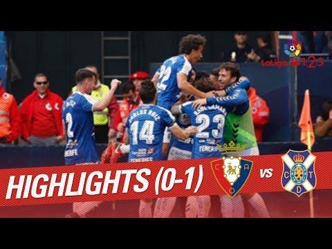 Resumen de Osasuna vs CD Tenerife (0-1)