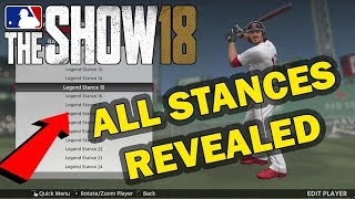 ALL BATTING STANCES + WIND UPS REVEALED | MLB 18 THE SHOW