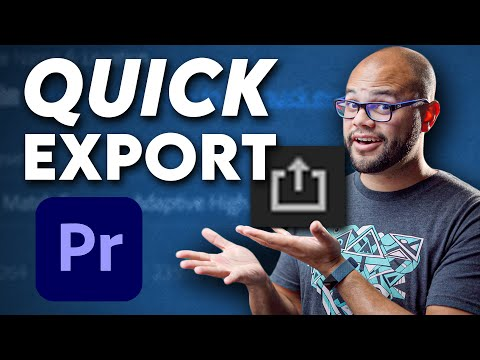 How To Use QUICK EXPORT In Premiere Pro