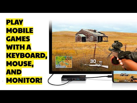 How To Play Mobile Games Using A Monitor, Keyboard, And Mouse? - ATEN UH3236 USB-C Mini Dock