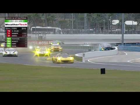 IMSA SportsCar Championship 2017. Rolex 24 At Daytona. Scott Pruett Crash