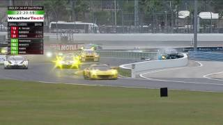 imsa sportscar championship 2017 rolex 24 at daytona scott pruett crash
