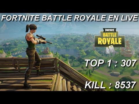 [FR/PC/LIVE] Fortnite  en  solo  / lvl 100 ! / 307 wins / 8.537 kill