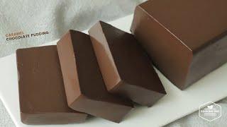 카라멜 초콜릿 푸딩 만들기, 노젤라틴 : Caramel…