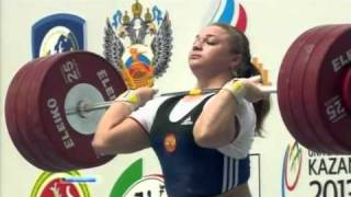 Tatiana Kashirina Champion of Europe on weightlifting 2011 75+