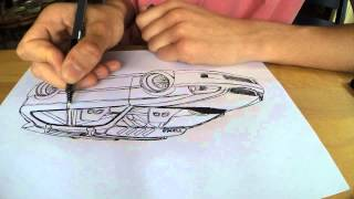 iDraw: How to draw a Honda Civic (EK9)
