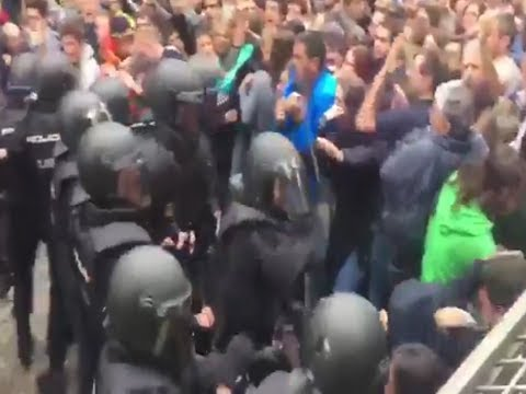 Outrage at Spanish state brutality against the Catalan people